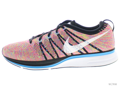 【US9.5】NIKE FLYKNIT TRAINER+ 532984-014 black/white-white-blue glow-volt