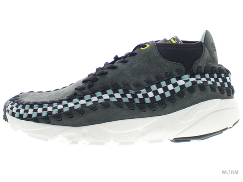 US9.5】NIKE AIR FOOTSCAPE WOVEN CHUKKA 443686-010 black/black-swan-cannon