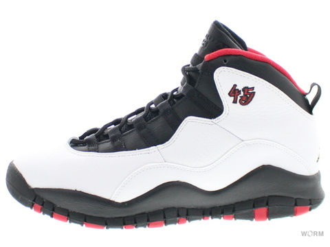 【US6Y】AIR JORDAN 10 RETRO BG 310806-102 white/black-true red