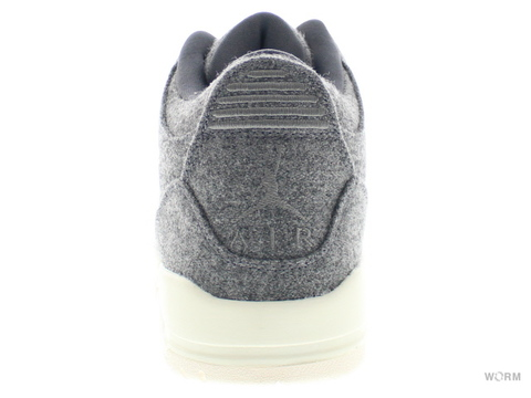 【US9.5】AIR JORDAN 3 RETRO WOOL 854263-004 dark grey/dark grey-sail
