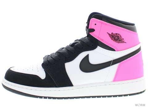 【US9Y】AIR JORDAN 1 RETRO HIGH OG GG 881426-009 black/black-hyper pink-white