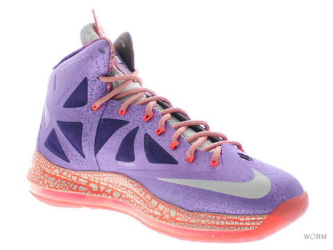 【US9】NIKE LEBRON X - AS 583108-500 lsr purple/strt gry-ttl crmsn
