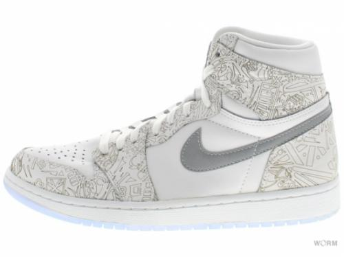 AIR JORDAN 1 RETRO HI OG LASER 705289-100 white/metallic silver