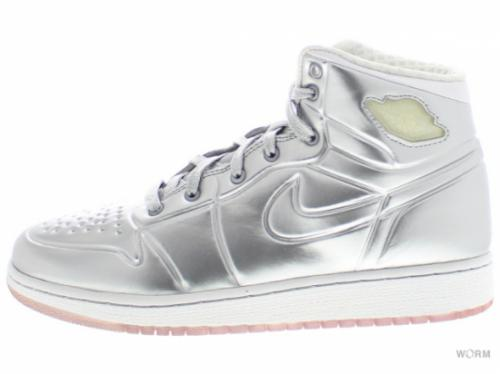 【US6Y】AJ 1 ANODIZED (GS) 414794-001 metallic silver/white