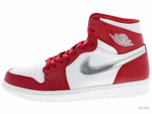 【US8.5】AIR JORDAN 1 RETRO HIGH 332550-602 gym red/metallic silver-white