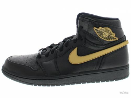 【US10.5】AIR JORDAN 1 RETRO HIGH BHM 908656-001 black/metallic gold-black
