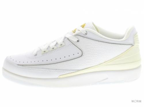 【US8.5】AIR JORDAN 2 RETRO LOW 309837-102 white/metallic silver-v maize