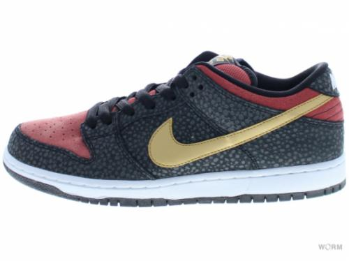 NIKE SB DUNK LOW PREMIUM SB QS 504750-076 black/metallic gold-lght rdwd