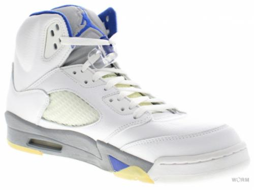 "AIR JORDAN 5 RETRO ""2006"" 136027-142 white/sport royal-stealth"
