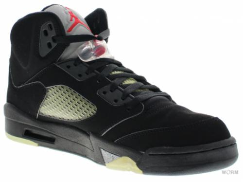 "AIR JORDAN 5 RETRO ""2006"" 136027-004 black/metallic silver-fire red"