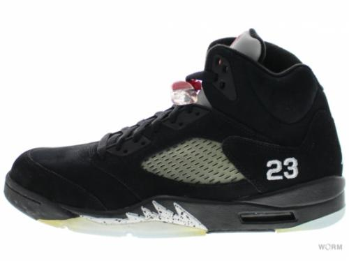 "AIR JORDAN 5 RETRO ""2011"" 136027-010 black/varsity red-mtllc silver"