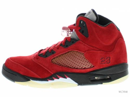 "【US9.5】AIR JORDAN 5 RETRO ""RAGING BULL RED SUEDE"" 136027-601 varsity red/black"