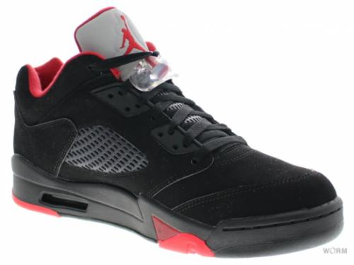 AIR JORDAN 5 RETRO LOW 819171-001 black/gym red-black-mtlc hmtt