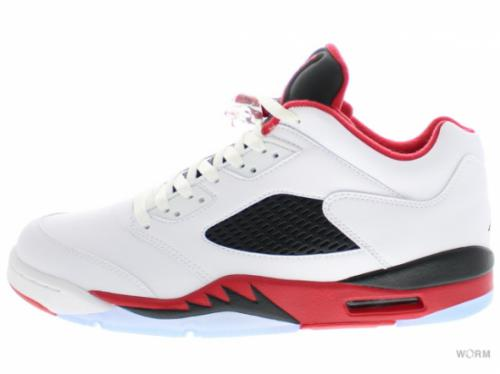 AIR JORDAN 5 RETRO LOW 819171-101 white/fire red-black