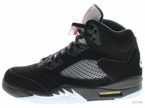 "AIR JORDAN 5 RETRO OG ""2016"" 845035-003 black/fire red-mtllc slvr-wht"
