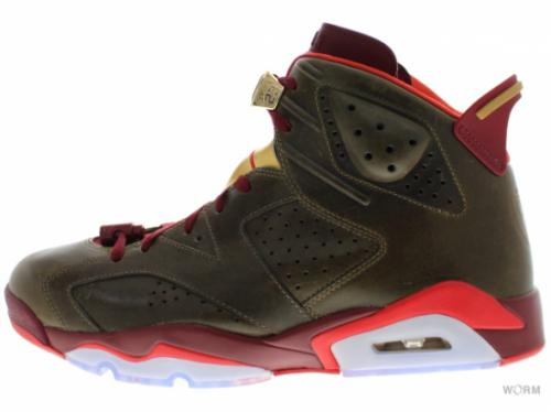 "AIR JORDAN 6 RETRO ""CIGAR"" 384664-250 raw umber/team red-metallic gold-challenge red"