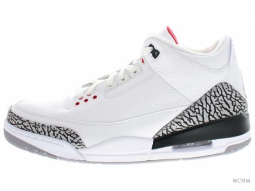 AIR JORDAN 3 RETRO 136064-105 white/fire red-cement grey-blk