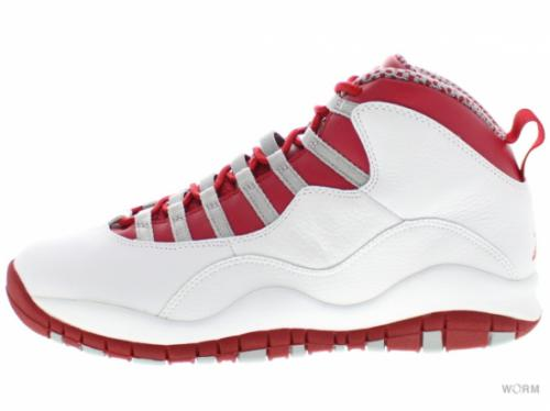 "AIR JORDAN 10 RETRO ""2005"" 310805-161 white/vred-lt steel grey"