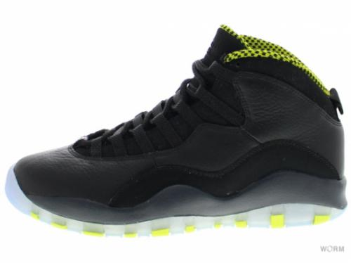 "AIR JORDAN RETRO 10 ""VENOM"" 310805-033 black/vnm green-cl gry-anthrct"