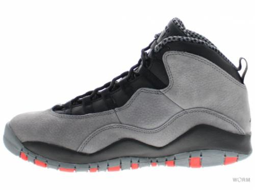 【US7Y】AIR JORDAN RETRO 10 RETRO (GS) 310806-023 cool grey/infrared-black