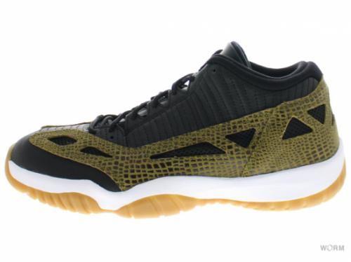 "AIR JORDAN 11 RETRO LOW ""CROC"" 306008-013 blk/mlt grn-gm yllw-infrard 23"