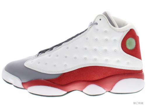 "【US9.5】AIR JORDAN 13 RETRO ""GREY TOE"" 414571-126 white/black-true red-cmnt grey"