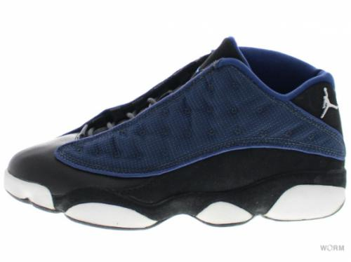 "【US8.5】AIR JORDAN 13 LOW ""1998"" 136008-441 navy/m silv-blk-carolina blue"