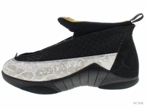 【US11】AIR JORDAN 15 RETRO LS 317274-071 black/metallic gold-white