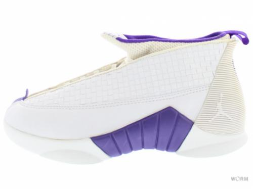 【US7.5】AIR JORDAN XV 436007-151 wht/var purple