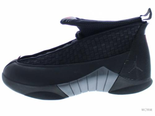 【US8】AIR JORDAN 15 RETRO 881429-001 black/varsity red-anthracite