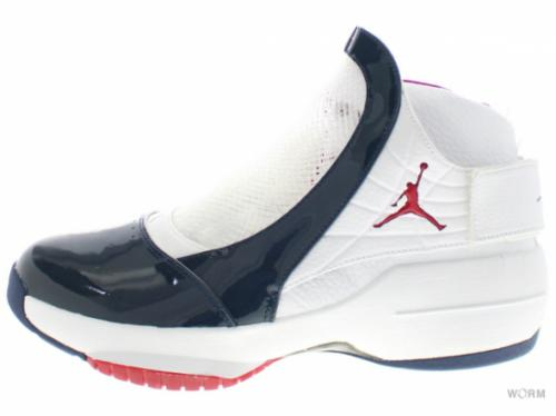 AIR JORDAN XIX 307546-161 white/varsity red-midnight nvy