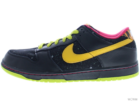 "【US10.5】NIKE SB DUNK LOW PREMIUM SB ""SPACE TIGER"" 313170-071 black/yellow ochre"
