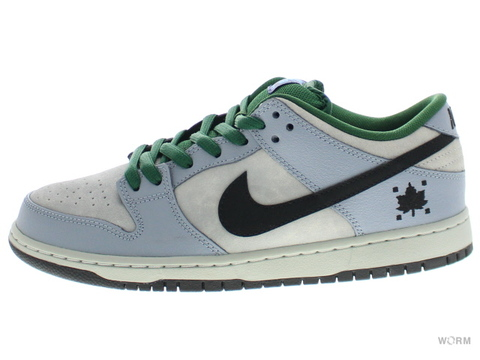 "NIKE SB DUNK LOW PREMIUM SB ""MAPLE LEAF"" 313170-021 dove grey/black-gorge green"