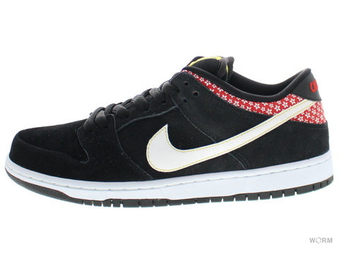 【US9.5】NIKE SB DUNK LOW PREMIUM SB 313170-016 black/white-challenge red