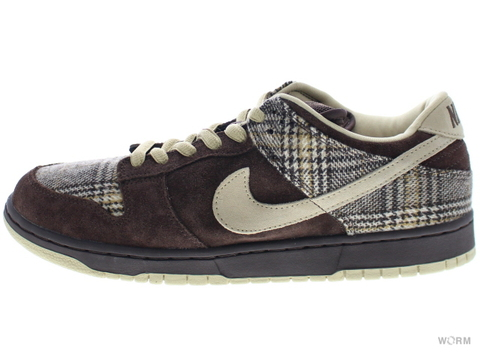 "【US10.5】NIKE SB DUNK LOW PRO SB ""TWEED"" 304292-223 baroque brown/mushroom"