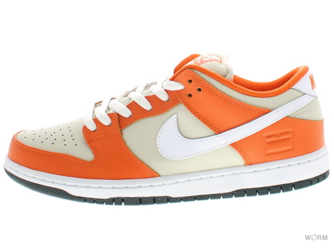 "【US11】NIKE SB DUNK LOW PREMIUM SB ""ORANGE BOX"" 313170-811 safety orange/white-cream"