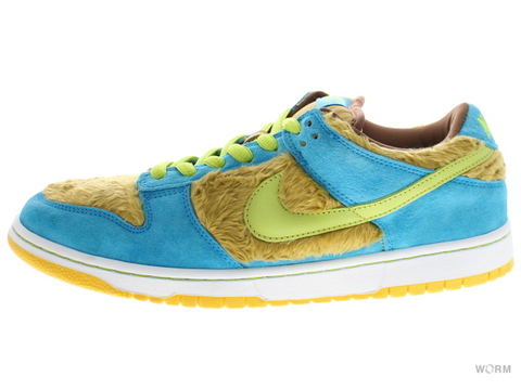 "NIKE SB DUNK LOW PREMIUM SB ""THREE BEARS"" 313170-731 light umber/grasshopper tersie/strell"