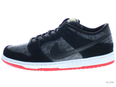 【US10】NIKE SB DUNK LOW PREMIUM SB 313170-017 black/black-university red