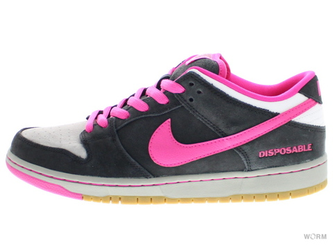 "NIKE SB DUNK LOW PREMIUM SB QS ""DISPOSABLE"" 504750-061 black/pink foil-white"