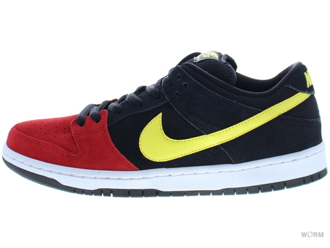 "【US10.5】NIKE SB DUNK LOW PRO SB ""BUTT HEAD"" 304292-076 black/sonic yellow-unvrsty red"