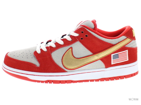 "【US10】NIKE SB DUNK LOW PRO SB ""NASTY BOYS"" 304292-610 challenge red/white-mtllc slvr"