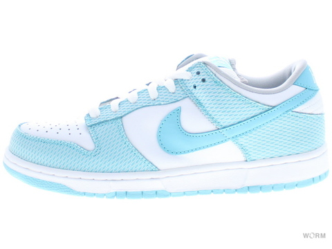 "【US9.5】NIKE SB DUNK LOW PREMIUM SB ""HIGH HAIR"" 313170-142 white/aqua"