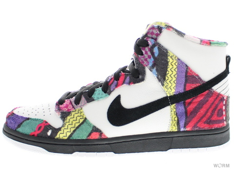 "【US10】NIKE SB DUNK HIGH PREMIUM SB ""HUXTABLE"" 313171-101 white/black"