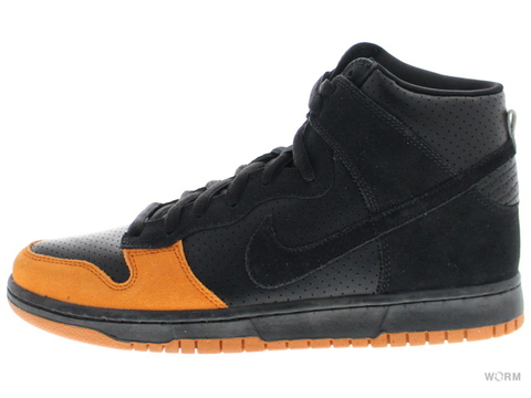 【US9.5】NIKE SB DUNK HIGH PRO SB 305050-005 black/black-solar orange