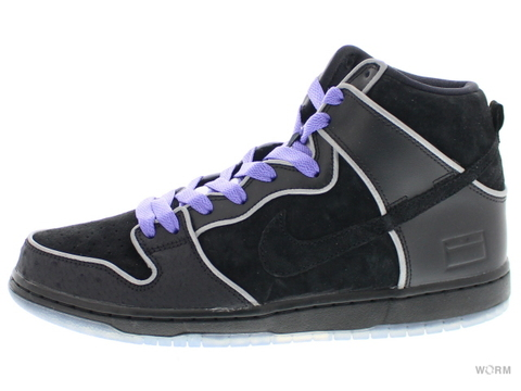 "【US10.5】NIKE SB DUNK HIGH ELITE SB ""PURPLE BOX"" 833456-002 black/black-white-purple haze"