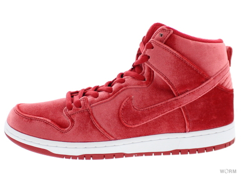 "NIKE SB DUNK HIGH PREMIUM SB ""RED VELVET"" 313171-661 gym red/gym red-white"