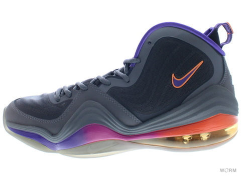 【US9.5】NIKE AIR PENNY V 537331-070 dark grey/crt prpl-blk-rv pnk