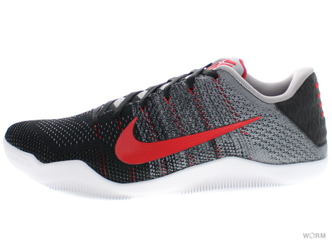 NIKE KOBE XI ELITE LOW 822675-060 cool grey/university red-black