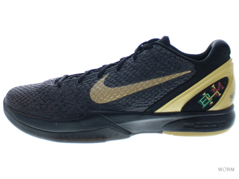 "【US12】NIKE ZOOM KOBE VI ""BLACK HISTORY MONTH"" 429659-011 black/metallic gold"
