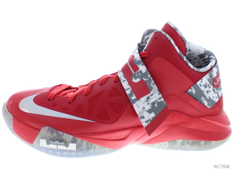 【US8】NIKE ZOOM SOLDIER VI 525015-601 unvrsty rd/cl gry-wh(ohio st)